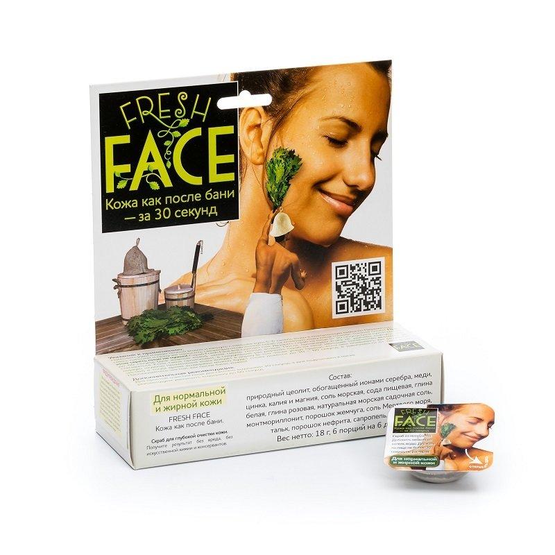 """""""Биобьюти"""". Скраб Fresh Face для нормальной и жирной кожи, 18 г (Midi)"""