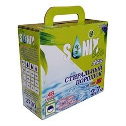 SonixBio. Active Концентрированный стиральный порошок на 48 стирок, 2,7 кг