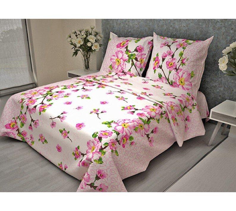 """Комплект постельного белья 1,5 спальный бязь """"Комфорт"""" (Сакура, розовый)"""
