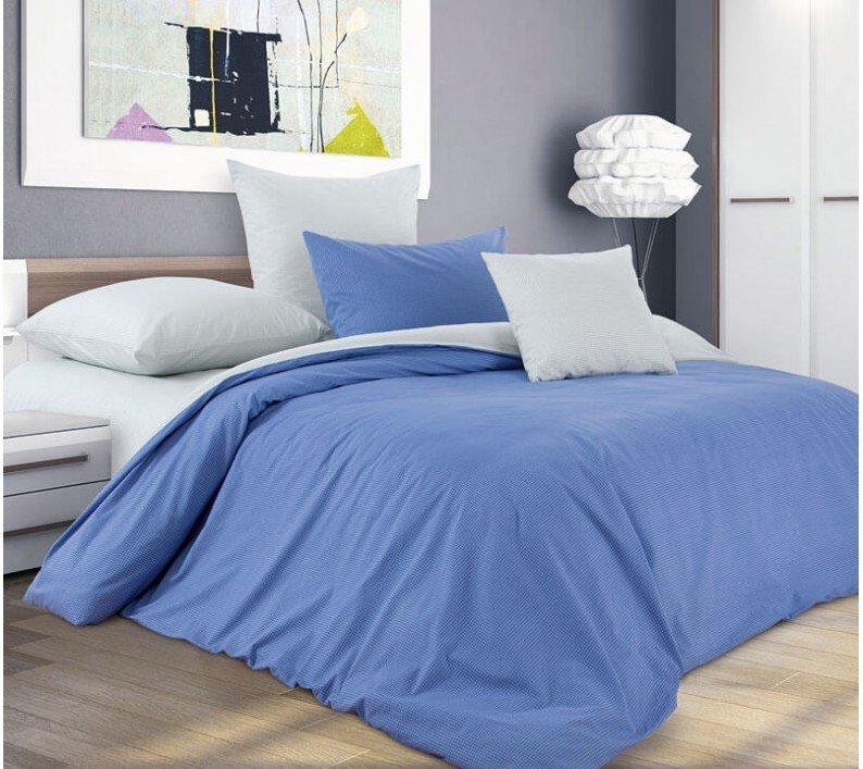 Комплект постельного белья 1,5-спальный, поплин (Черничный десерт)
