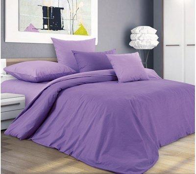 Комплект постельного белья 1,5-спальный, поплин (Ежевичный смузи)