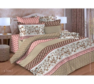 Комплект постельного белья 1,5-спальный, бязь ГОСТ (Элегия, бежевый)