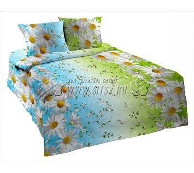 Комплект постельного белья 1,5-спальный, бязь Шуйская ГОСТ (Ромашковое поле)
