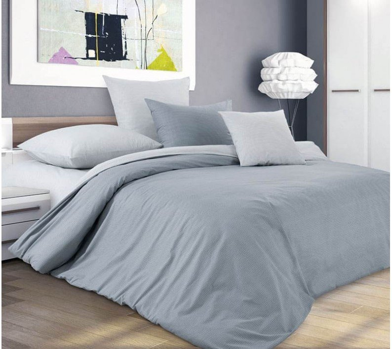 Комплект постельного белья Евростандарт, поплин (Горный ветер)