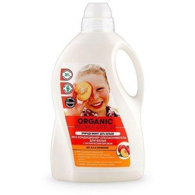 Organic People & Fruit. Экокондиционер-ополаскиватель для белья с органическим персиком, 1.5 л