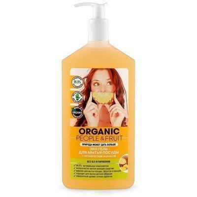Organic People & Fruit. Экогель для мытья посуды с органическим ананасом, 500 мл