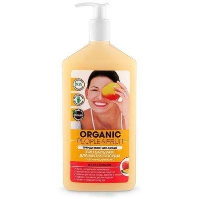 Organic People & Fruit. Биобальзам для мытья посуды с органическим манго, 500 мл