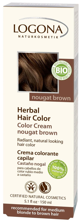 Logona. Крем-краска для волос «КОРИЧНЕВАЯ НУГА» 150мл