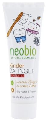 NEOBIO. Гелевая зубная паста для детей без фтора с биояблоком и папайей, 50 мл