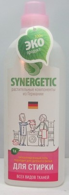 Synergetic. Жидкое средство для стирки, 1 л