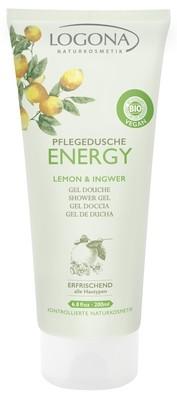 Logona. Energy. Гель для душа с лимоном и имбирем, 200 мл