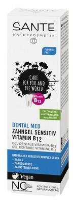 SANTE. Гелевая зубная паста с витамином В12 без фтора, 75 мл
