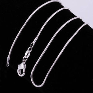 925 Silver Plated Snake Chain 18