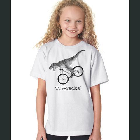 T. Wrecks Kids' Tee (White) 0000003