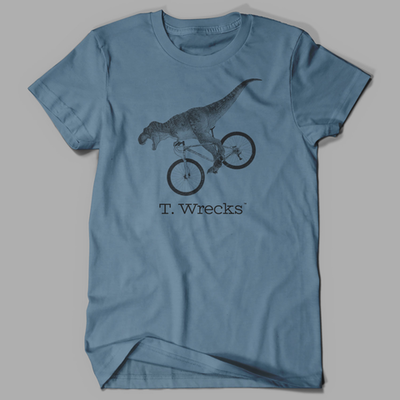 T. Wrecks Tee (Steel Blue)