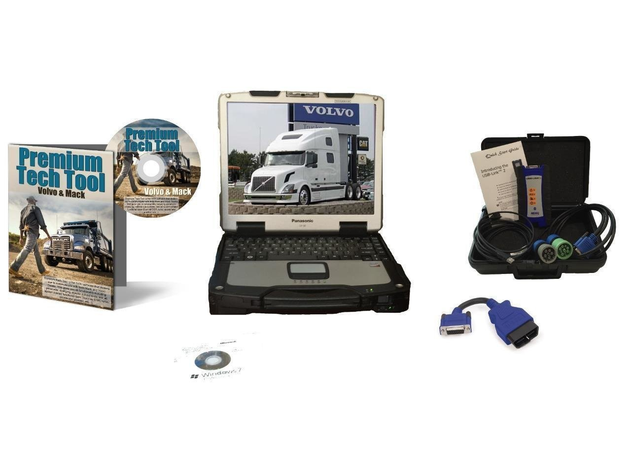 Mack & Volvo Diagnostic Dealer Kit with PTT Software, NexIQ Adapter and Panasonic Toughbook