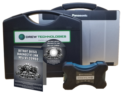 Detroit Diesel Diagnostic Link v8 & v6 Combo Standard License with Drewlinq Scanner and Toughbook Dealer Package