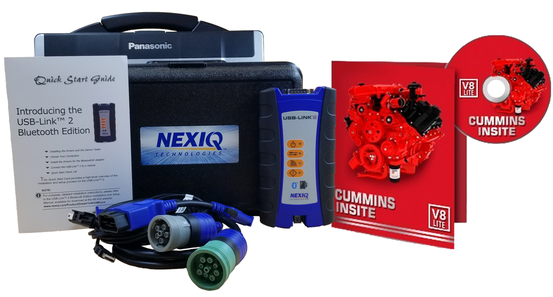 Cummins Insite Engine Diagnostic Software Lite with NexIQ Panasonic  Toughbook Dealer Package