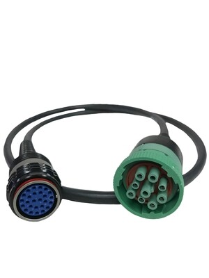 Volvo VOCOM I or VOCOM II datalink adapter to the 88890315 Deutsch 9-pin connector of the vehicle and is capable of ECU programming.