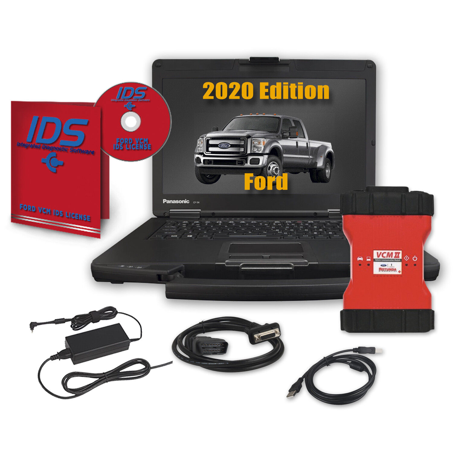 Ford IDS Software, Full Annual Subscription with VCM 2 (VCM II) Ford Tool with Toughbook Dealer Package