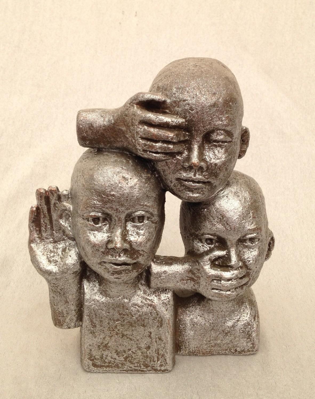 moderne sculpture nr: 326 Zilver