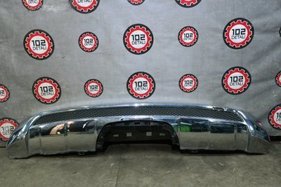 Юбка заднего бампера хром для Mercedes ML-Сlass W166  (2011--)