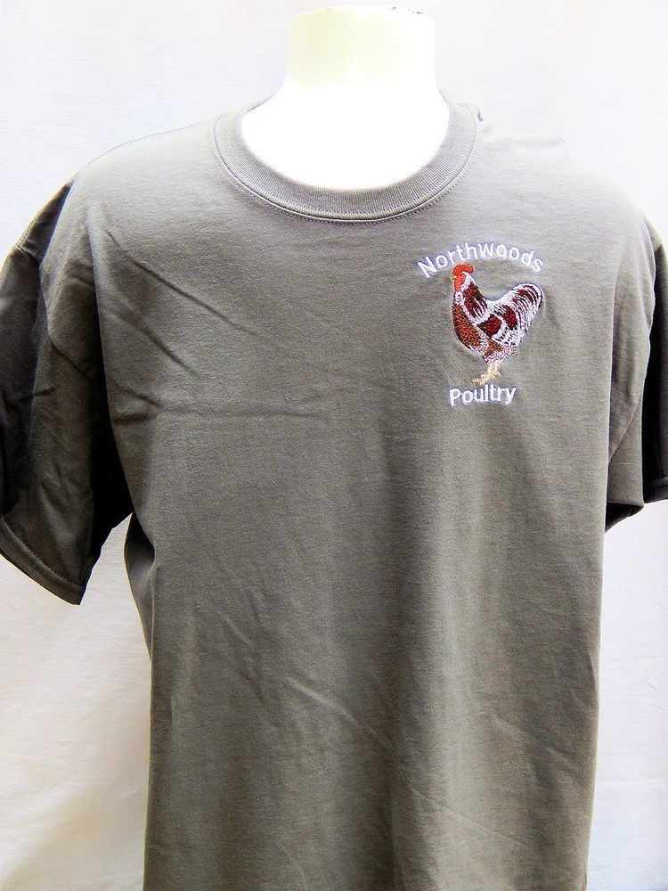 Embroidered Northwoods Poultry Shirt - Grey Short Sleeve