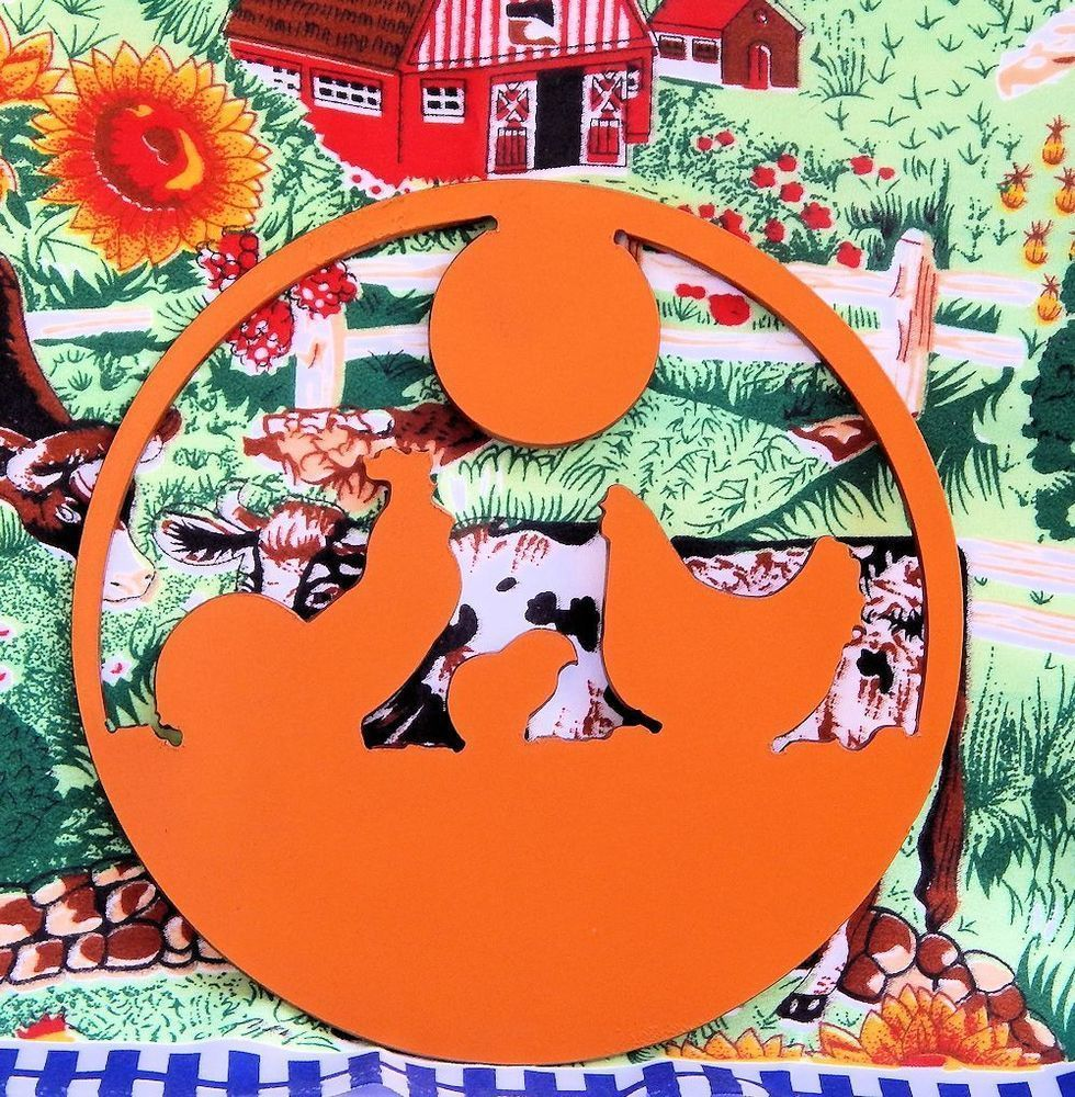 Trivet- Chickens in the Sunset