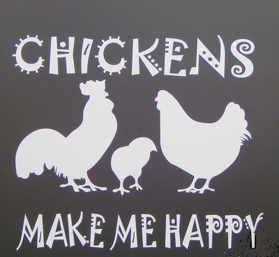 Car Decal-Chickens make me happy