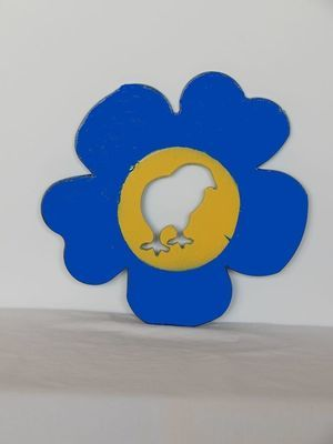 Trivet- Flower with Baby Chick