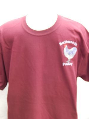 Embroidered Northwoods Poultry  Shirt - Maroon