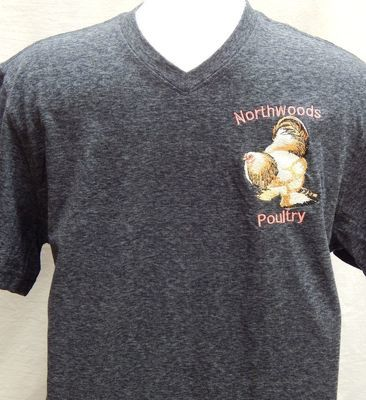 Embroidered Northwoods Poultry Shirt Dark Grey Short Sleeve