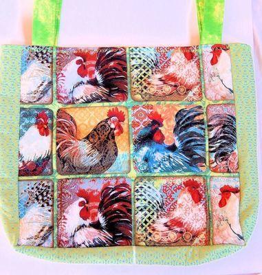 Multi-Colored Rooster - One-Of-A Kind Designer Bag