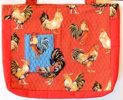 Roosters and Hens - One-Of-A Kind Designer bag