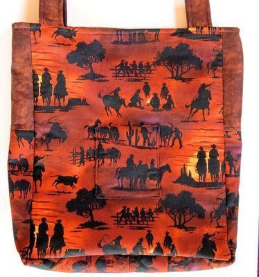 Cowboy & Horse - One-of-a-kind Designer Bag