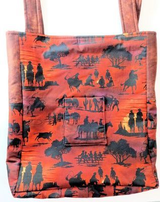 Horse and Cowboy - One-of-a Kind Designer Bag