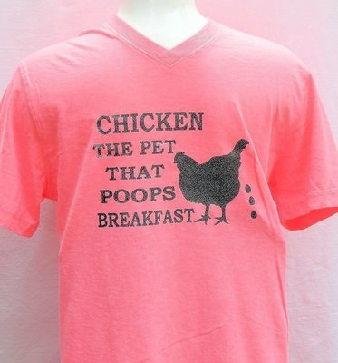 Chicken The Pet That Poops Breakfast-Pink with Grey Sparkles