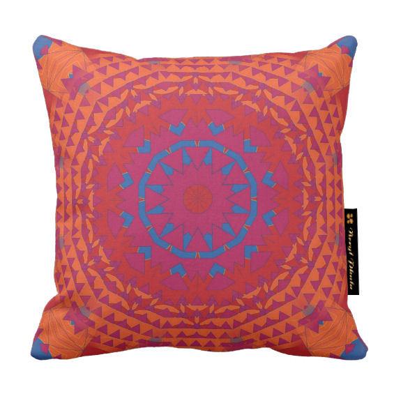 Luxury Ethnic Tattoo Print Design Cushion