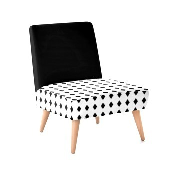 Occasional Chair - Black Diamonds Print Design