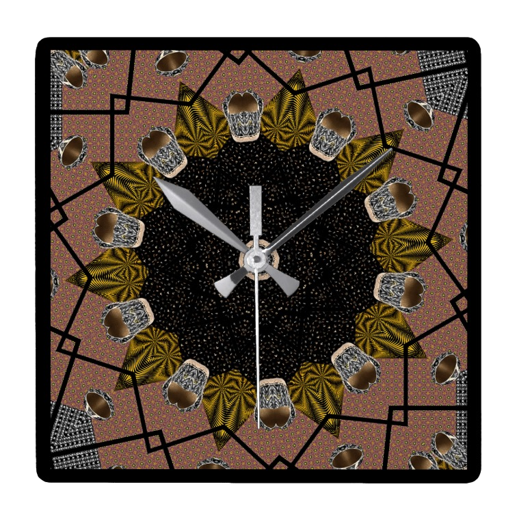 Shoe print design wall clock - Square