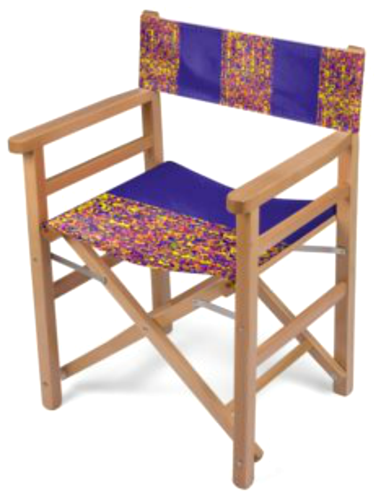 Folding Chair Yellow And Mauve Multi Print Design