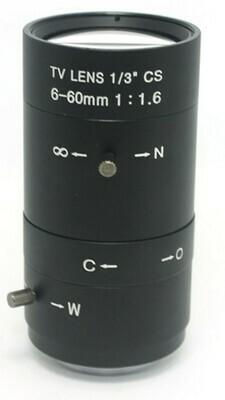 6-60mm f/1.7 zoom lens