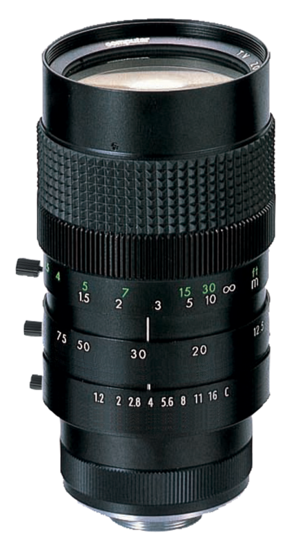 Computar 12.5-75mm f/1.2 zoom lens