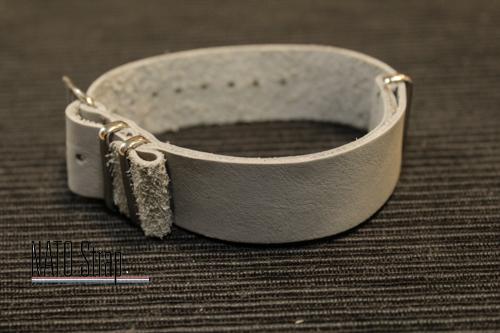 Кожаный ремешок Nato ручной работы nato light grey