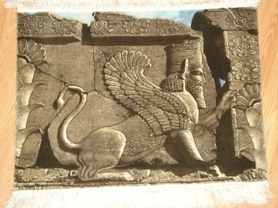Persepolis  lion wall rug