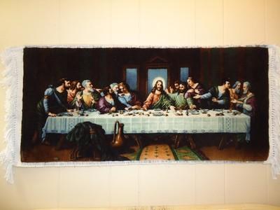 Last supper wall rug