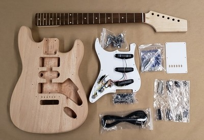 Class Pack  Economy Double Cut Guitar  Kit - 10 Pack - Pre-Made Neck