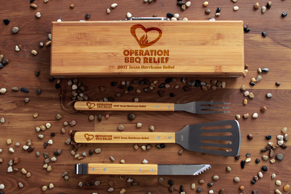 OBR BBQ Utensil Set - All proceeds donated to Operation BBQ Relief TXFundGrillSet