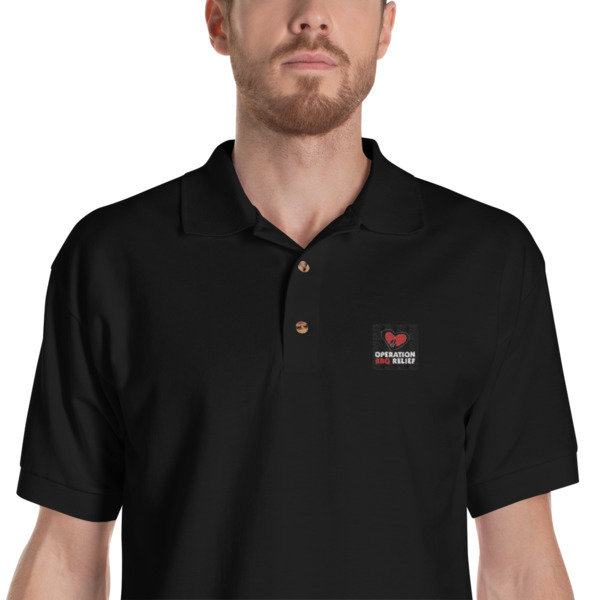 Embroidered OBR Polo Shirt (Black) 60028