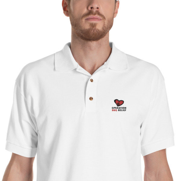 Embroidered OBR Polo Shirt (Grey) 60029
